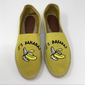 "South Parade ""It's Bananas"" Espadrilles Size 40"